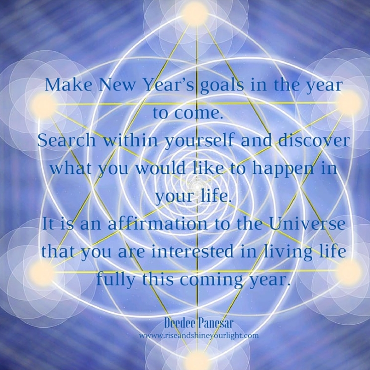 Make New Year's goals in the year to come. Search within yourself and discover what you would like to happen in your life. It is an affirmation to the Universe that you are interested in living life fully this coming y.jpg
